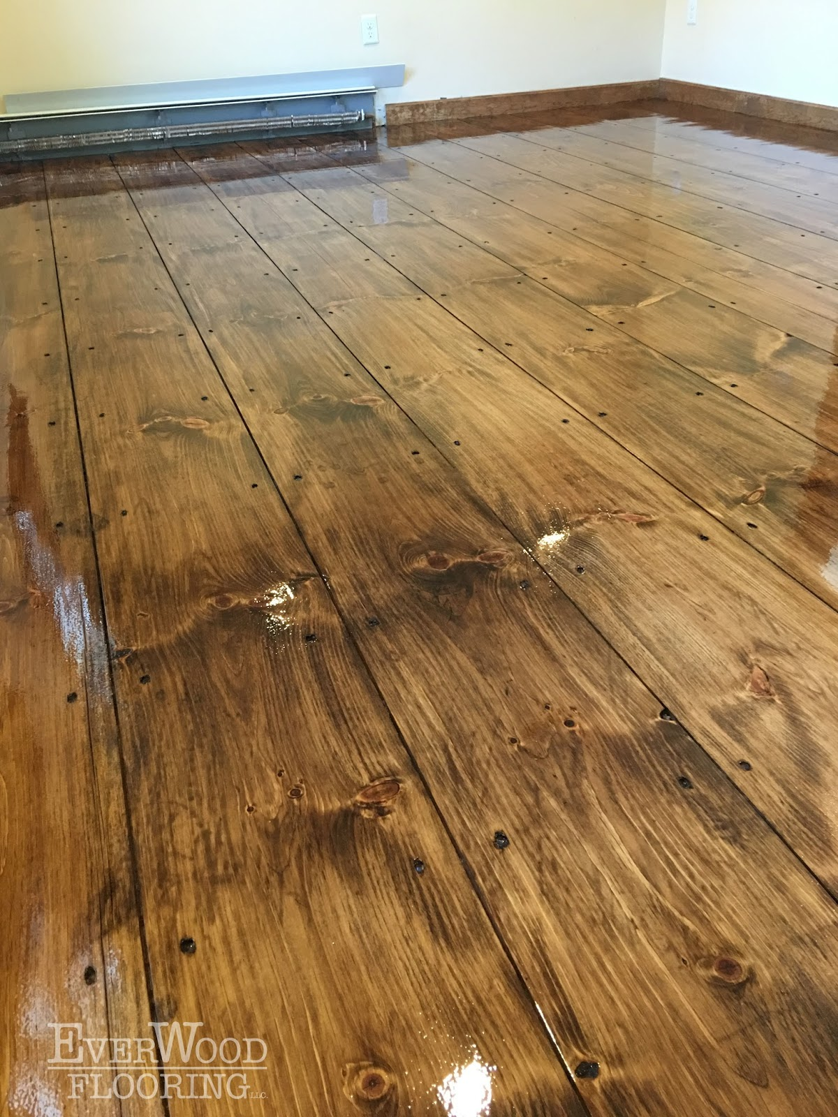 EverWood Flooring Project Profiles WidePlank Pine Stain  Refinish Windham NH