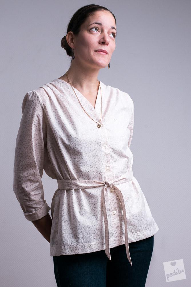 Style: Boho-Romantik – Bluse mit Bindegürtel