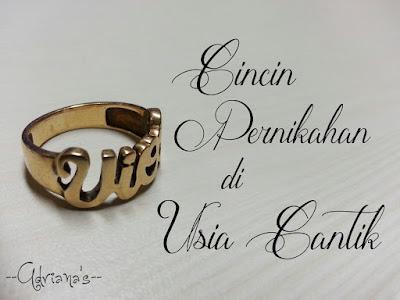 Cincin Pernikahan di #UsiaCantik