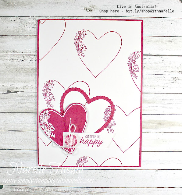 Show someone how much you care with a cute card made using the gorgeous All My Love Product Suite - see the complete range here - http://bit.ly/AllMyLoveSuite