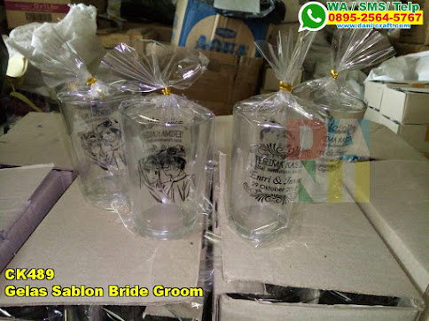 Grosir Gelas Sablon Bride Groom