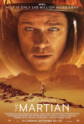 Poster Of The Martian 2015 In Hindi Bluray 720P Free Download