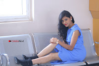 Telugu Actress Mounika UHD Stills in Blue Short Dress at Tik Tak Telugu Movie Audio Launch .COM 0228.JPG