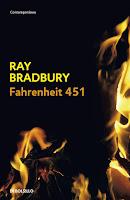 "Portada del libro ""Farenheit 451"", de Ray Bradbury"