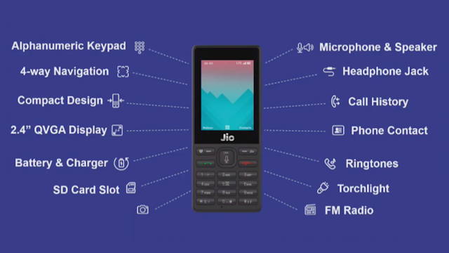 jio phone specifications