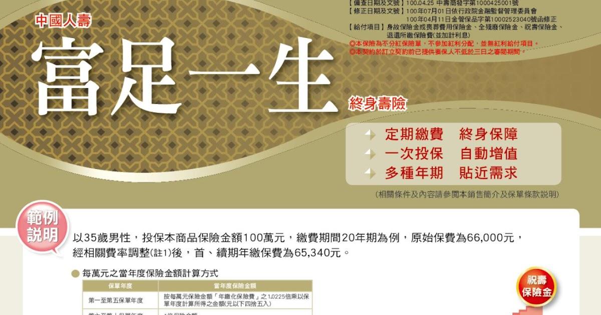 MLE2012: 中國人壽富足一生終身壽險