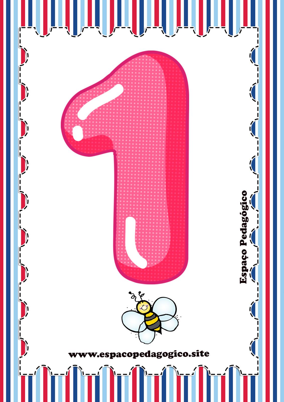 Varal Cartazes De Parede Com Numerais Numeros E Quantidades