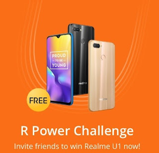 Tags- Realme R Power Challenge, Realme R Power Challenge unlimited tricks, Realme R Power Challenge online scripts, Realme Offer, Realme U1 Offer, Realme R Power Challenge Tricks, Realme R Power Challenge in Hindi