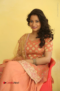 Telugu Actress Santoshi Sharma Latest Stills in Salwar Kameez at HBD Movie Teaser Launch  0082.JPG