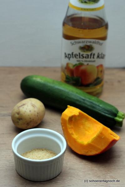 Zutaten Kürbis-Zucchini-Brei mit Couscous