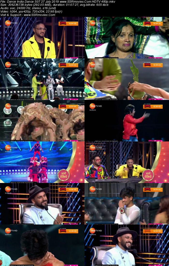 Dance India Dance S07 27 July 2019 HDTV 480p Full Show Download