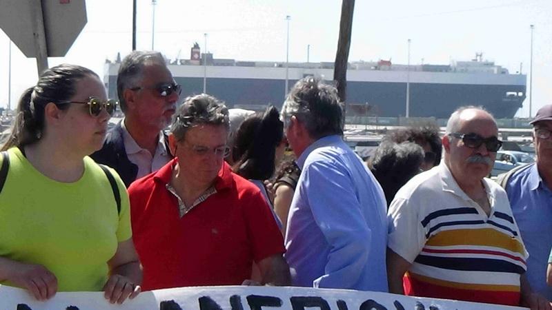 Παρέμβαση του ΚΚΕ στο λιμάνι της Αλεξανδρούπολης
