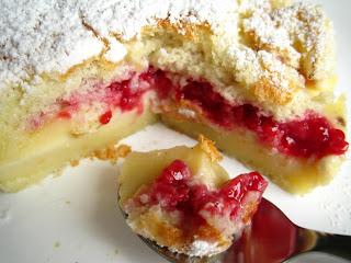 Gâteau magique framboise