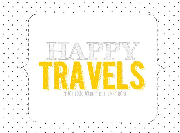 travel printable