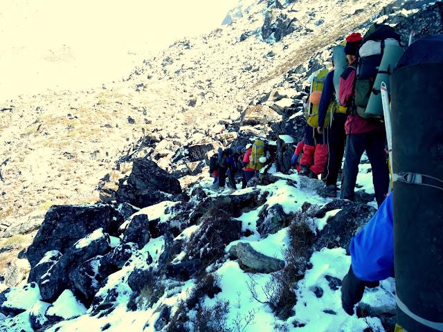 Descending towards Beak Bari