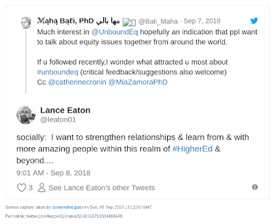 """socially:  I want to strengthen relationships & learn from & with more amazing people within this realm of #HigherEd & beyond...."""