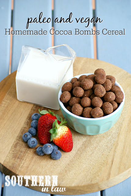 Easy Homemade Paleo Cereal Recipe - cocoa bombs, gluten free, grain free, paleo, vegan, egg free, dairy free, sugar free, clean eating recipe