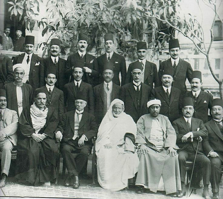 Egyptian Wafd Party Members, c 1919.