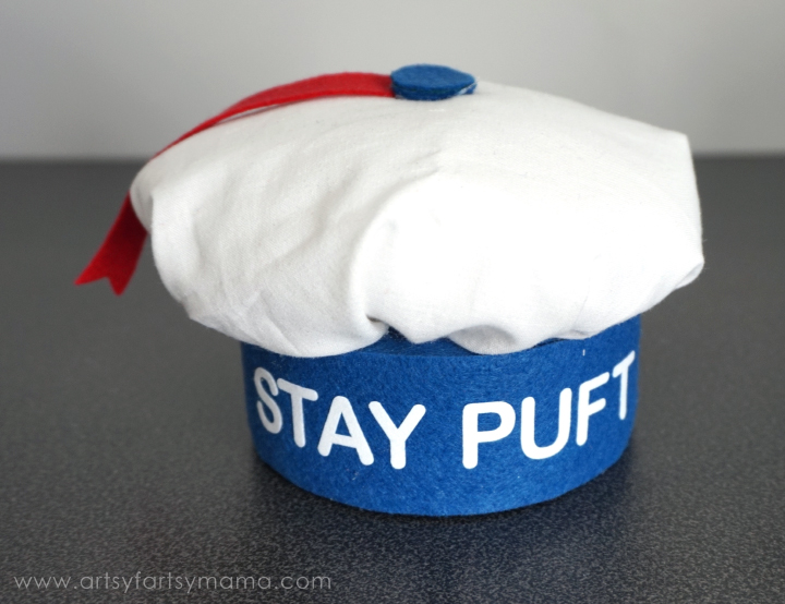 DIY Girly Marshmallow Man Costume Tutorial at artsyfartsymama.com