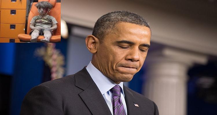 كلام لا يصدق من أوباما بعد مشاهدة صورة الطفل السوري عمران