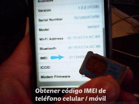 saber el IMEI de un celular para liberar gratis