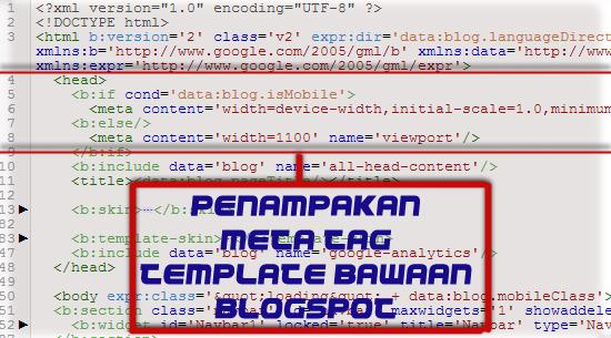 Meta tag blogspot