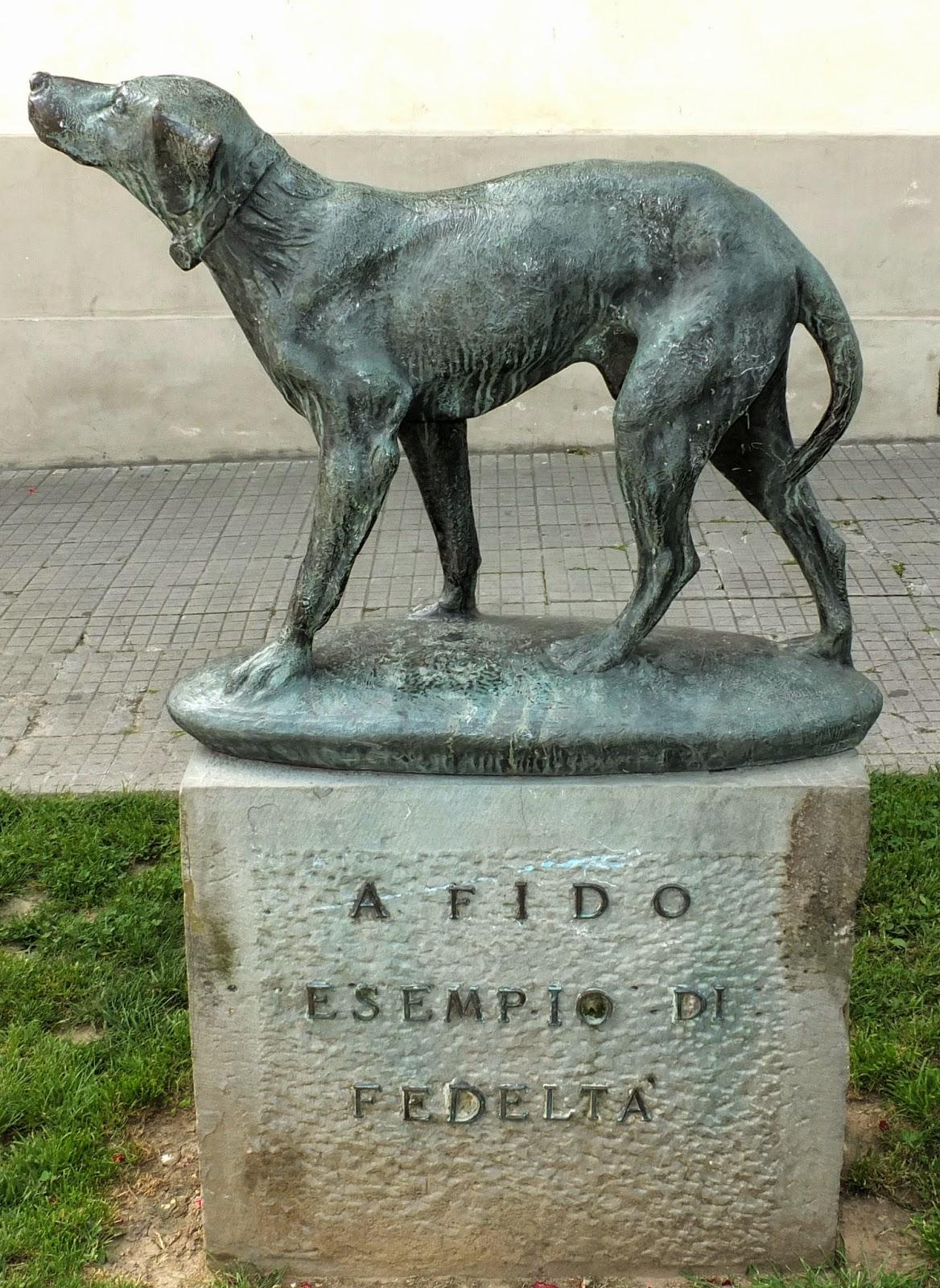 Fido Statue.  Borgo San Lorenzo, Tuscany