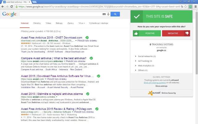 تحميل اضافة افاست انتي فيروس جوجل كروم Avast Online Security