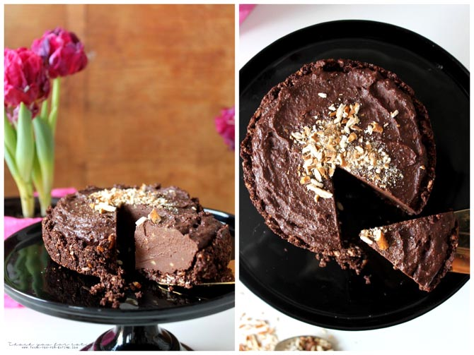 No Bake Vegan Chocolate Cake