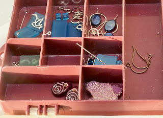 Divided Box with Earring Parts