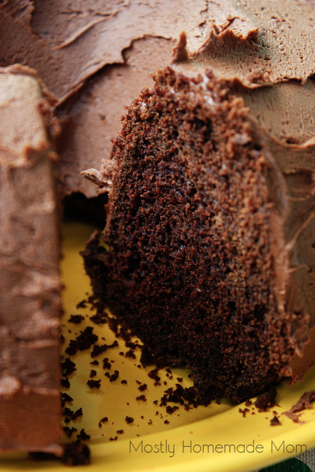 Chocolate Orange Zucchini Cake with homemade chocolate buttercream frosting