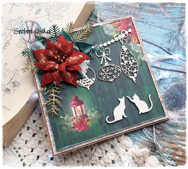 [Skarbnica Pomysłów] Kocia kartka świąteczna