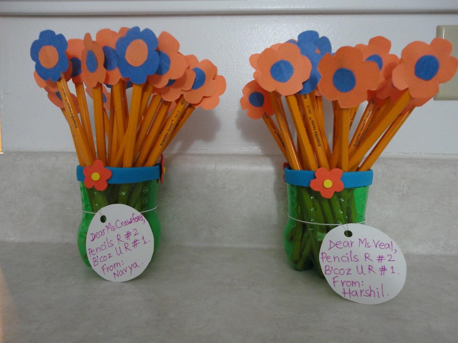 Nisha S Creative Arts And Crafts Pencil Vase For Teacher