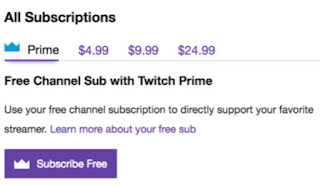 subscription options on twitch