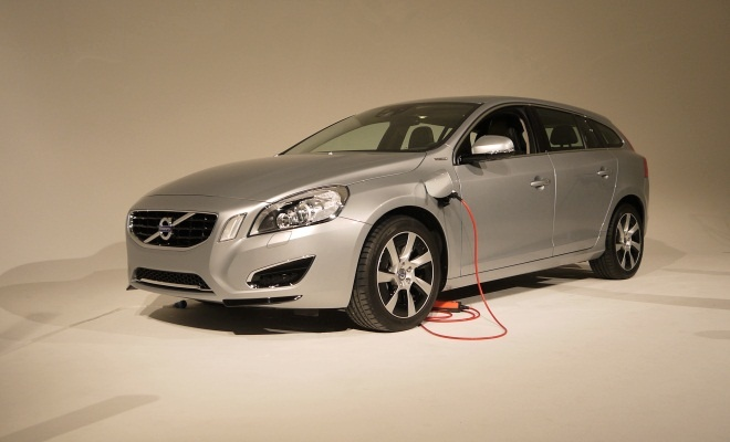 Volvo V60 PHEV from the front