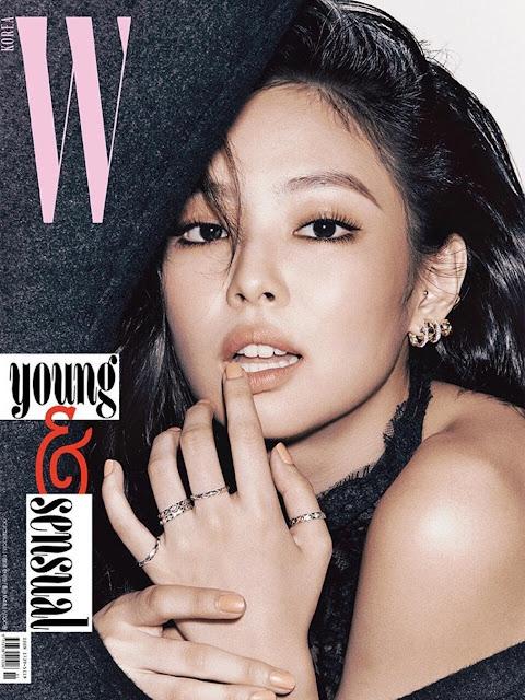 jennie kim, black pink, kpop, w korea