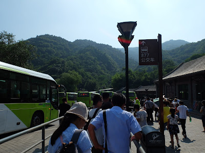 八達嶺のバス乗り場