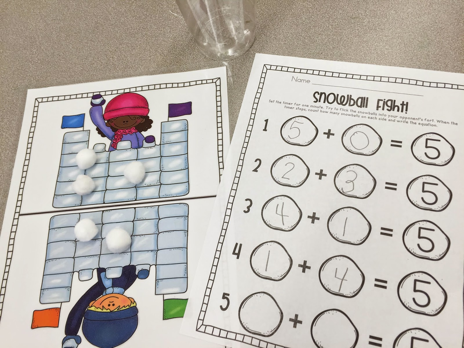 Mrs Ricca S Kindergarten Snow Much Fun Centers Amp Freebies