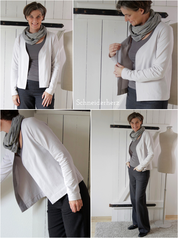 Cardigan No 11 Lillesol aus Sommersweat