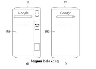 Tablet lipat LG dalam keadaan dilipat