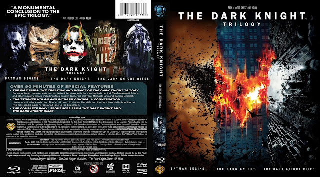 The Dark Knight Trilogy Bluray Cover