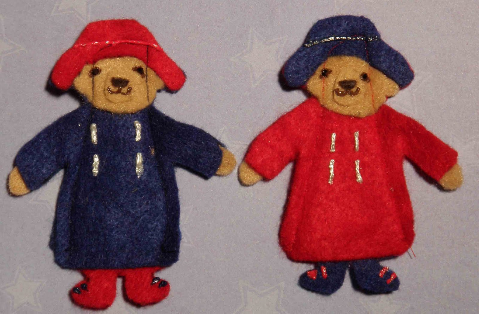 crack of dawn crafts  paddington bear felt finger puppet