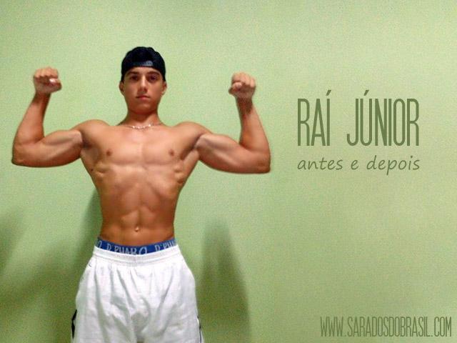 Éstudante Raí Júnior ganhou 15 kg em 9 meses de musculação. Foto: Arquivo pessoal