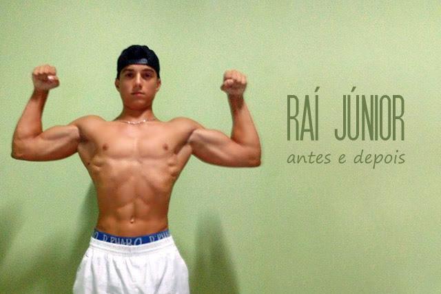 Raí Júnior ganha 15 kg de massa muscular em 9 meses de musculação