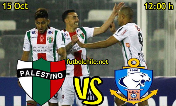Ver stream hd youtube facebook movil android ios iphone table ipad windows mac linux resultado en vivo, online:  Palestino vs Deportes Antofagasta