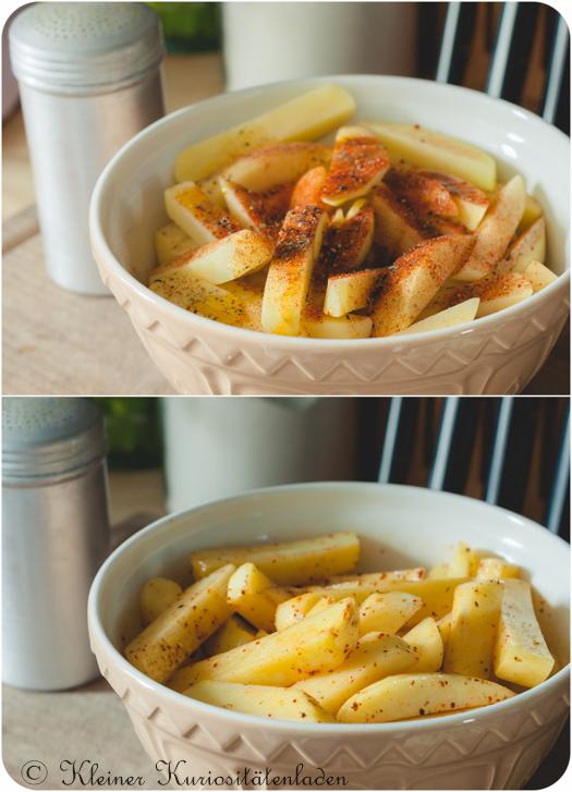 Gewürzte Kartoffelstifte