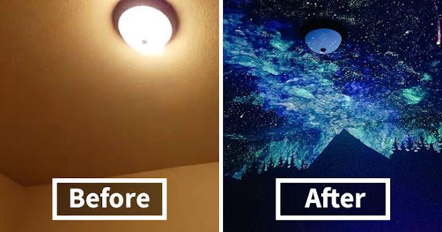 Kreasi Unik Di Dinding Kamar Tidur Anak Dengan Cat Glow In The Dark