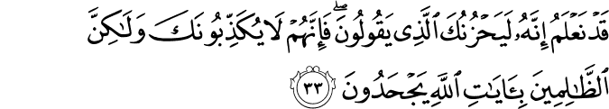 Surat Al-An'am Ayat 33