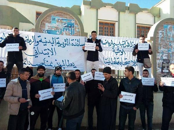 """الطلبة و خريجي   """"ستابس"""" يصرون بموقف مواصلة الاحتجاج الي غاية الاستجابة لمطالبهم"""
