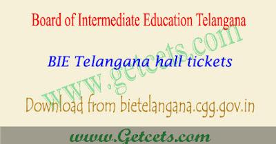 TS Intermediate hall tickets 2021 ipe exam @tsbie.cgg.gov.in
